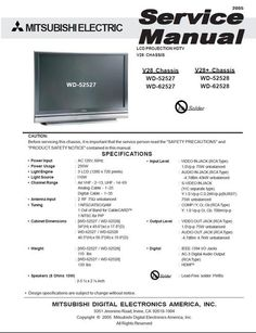 Mitsubishi wd 57731 v33 service manual schematics tv services mitsubishi wd 52527 wd 62527 service manual schematics fandeluxe Gallery