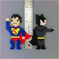 Perler Beads Superman   Justice League of America ( JLA ) DC Comic Perler Bead Magnet Set ...