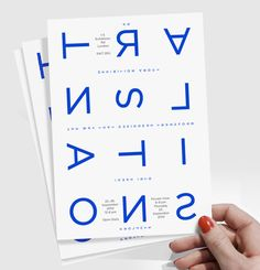 Brochure - Great use of typography. I love the different alignment of the letters, it generates a lot of interest.