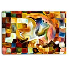 DesignArt Way of Inner Paint Abstract Graphic Art on Wrapped Canvas Size: