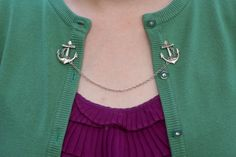 Clip di ancoraggio Cardigan  argento oro o bronzo di DapperandSwag, $12.00