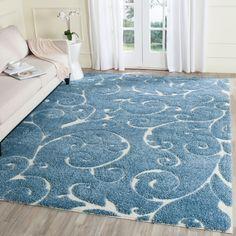 Shag Collection SG455-6011 Color: Light Blue / Cream  #rug #carpet #safavieh #safaviehrug  #trendy #homedecor #homeaccents #shophome #livingroom #diningroom #bedroom #kitchen #office #rugsforyourhome #shag #shagrug #shagcarpet #softshagrugs #shagrugdesign #stunningshagrugs #safaviehshag #safaviehshagrugs #trendyrugs #bestrugs #bestrugprices