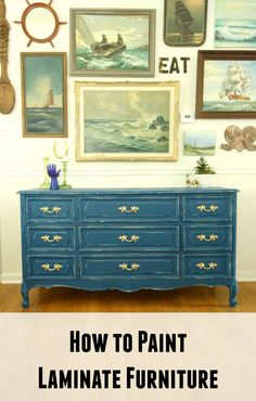 How to Paint Laminate Furniture- it's so much easier than you think!