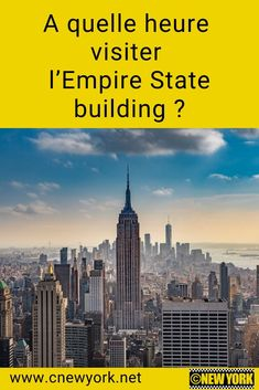 Are you going to New York and have decided to climb to the top of the Empire State building? Here are my tips for choosing the best time. Go To New York, New York City, Empire State Building, Road Trip, Monuments, Voyage New York, City Wallpaper, Chrysler Building, Lower Manhattan