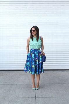 Mint-Green-Crop-Top,-Cobalt-Blue-Chanel,-ASOS-blue-floral-midi-3