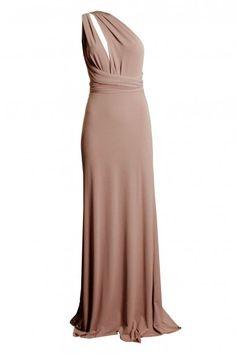 TFNC Multi Way Nude Maxi Dress