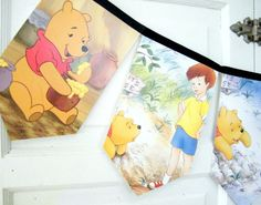 Winnie the Pooh bunting banner repurposed by decorandcrafts, $15.00
