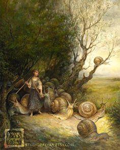 SNAIL SHEPHERDESS BY OMAR RAYYAN