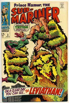 sub marinor | Sub Mariner 3 F John Buscema Marvel Comics 1968 | eBay