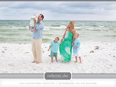 Beach family pictures, Florida, beach clothing ideas, Watercolor pictures, Seaside pictures, children beach pictures // Catherine Clay Photography