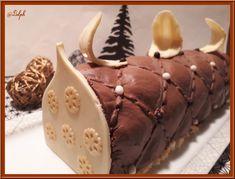 Bûche Chocolat et Insert à la Poire