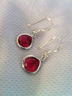Faceted Ruby Glass Stone Dangle Earrings with 925 by SwamiJewelry https://www.etsy.com/sg-en/listing/151586756/faceted-ruby-glass-stone-dangle-earrings?ref=shop_home_active_10