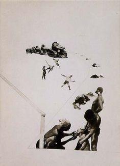 Laszlo Moholy-Nagy. Militarism. 1924. Photomontage.
