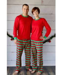 PREORDER Christmas PJ's Pajama's Adult by SewMacy on Etsy, $33.50