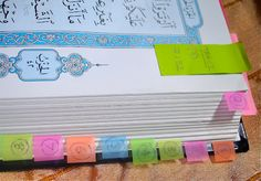 How To Read A Qur'an. great idea for seperating juz. Use post it to separate! If I can read for college, I should be able to read this!