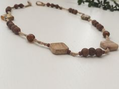 Ancient look Handmade Pyu Bead Necklace by EstellBeauty on Etsy