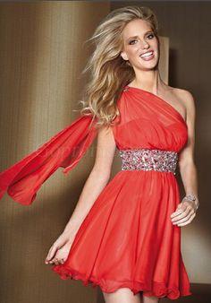 prom dress,prom dresses,prom dress,prom dresses chiffon draping one shoulder beaded empire prom dress