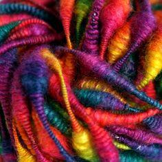 Rainbow beads - hand dyed and handspun yarn