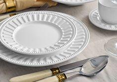 Aparelho de jantar Parthenon 30 peças: R$349,99 -6 pratos rasos -6 pratos de sobremesa -6 pratos fundos -6 píres -6 xícaras  Istagram: @saboreandoshop