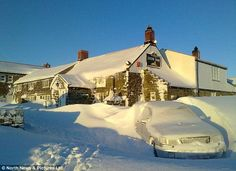 Snowed inn: The Lion Inn pub in Blakey Ridge, North Yorkshire, where seven people have been trapped for nine days East Yorkshire, Yorkshire Dales, Robin Hoods Bay, Thing 1, London Pubs, Place Values, The Locals, Mother Nature, Places Ive Been