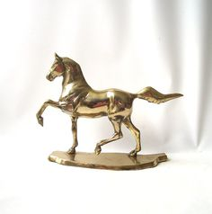 vintage 1970's large brass horse figurine by RecycleBuyVintage, $30.00