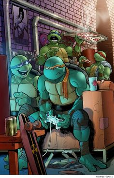 Teenage Mutant Ninja Turtles, by Valerio Schiti