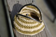 Tiny crochet purse