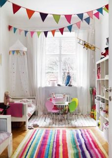 Classroom Decor Pins Linky! Colorful idea for a kid's room.
