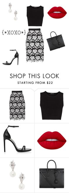 """""""Untitled #575"""" by kimberly58227 ❤ liked on Polyvore featuring BCBGMAXAZRIA, MANGO, Yves Saint Laurent, Lime Crime and Belpearl"""