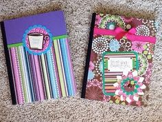 altered notebooks (I already made one with my initials, but still decided to repin it).