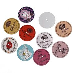 ZARABE Wood Sewing Button Scrapbooking Round At Random 2 Holes At Random Pattern 50PCs ** More info could be found at the image url.