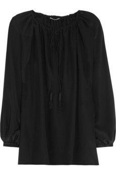 Saint Laurent Silk crepe de chine blouse  | NET-A-PORTER