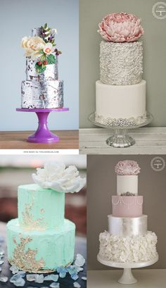 Wedding Trend: Bolo Metalizado