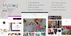 Myblog is responsive WordPress theme with a clean, elegant, unique and modern design. Both box width and full-width layout are available. Supporting 8 post formats including Standard, Image, Galler...