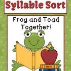 Syllable Sort Frog and Toad Together Center Game for Common Core
