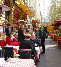 Liszt Ferenc tér in Budapest, Hungary