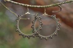 Items similar to Macrame earrings STARS tribal hippie gypsy boho festival on Etsy Macrame Necklace, Macrame Jewelry, Diy Jewelry, Macrame Bracelets, Art Macramé, Micro Macramé, Macrame Design, Hippie Jewelry, Tribal Jewelry