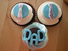Father's Day Cupcakes Birthday Cakes For Men, Man Birthday, Mini Cakes, Cupcake Cakes, Cupcake Ideas, Fathers Day Cupcakes, Daddy Day, Dessert Decoration, Yummy Cupcakes
