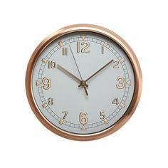 Hometime Opulence Brushed Bronze Effect Wall Clock W7316