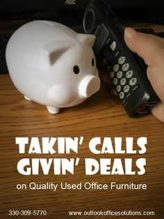 Visit our Office Furniture Outlet. Used Office Furniture, Furniture Outlet, Piggy Bank, Money Box, Money Bank, Savings Jar