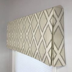 Custom Made to Order Box Pleat Valance Using Your Fabric - Window Treatment Ideas Valences For Windows, Window Cornices, Valance Window Treatments, Custom Window Treatments, Window Coverings, Window Blinds, Box Pleat Valance, Box Pleats, Valance Curtains