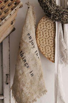 burlap towel