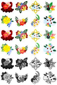 フリーのアイコン素材「可愛い和風アクセサリーのアイコン / The cute icons of Japanese style accessory」 by atelier-bw ダウンロードはこちらから。 The downloading from this.