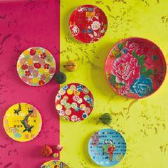 Assiettes de pr sentation pour une table qui en jette peinture sur porcelai - Assiette genevieve lethu ...
