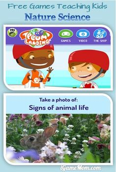 Wonderful FREE online games + a FREE app from PBS Kids - teaching kids nature science, life in the nature, and the balance of the ecosystems. Preschool Science Activities, Science For Kids, Learning Activities, Life Science, Science Ideas, Science Experiments, Learning Websites, Fun Learning, Teaching Kids
