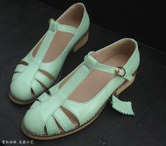Mint Loafer Tassel Vintage Inspired Handmade Handcrafted Loafers High Heels Leather Oxford Brogue Blucher Saddle  Derby Wing Tip on Etsy, £84.49