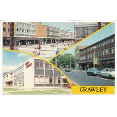 Public Library and Shops Crawley West Sussex Multiview Postcard 3355 Listing in the Sussex,England,Topographical,Postcards,Collectables Category on eBid United Kingdom | 147656614