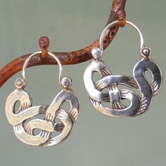 Celtic Knot Earrings tribal hoop style by BobsWhiskers on Etsy