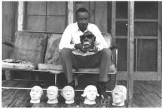 """James """"Son"""" Thomas, musician and sculptor, photographed by Bill Ferris in Leland, Mississippi, 1968"""