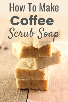 """DIY Coffee Scrub Soap Recipe. Have you ever had something that every time you used it you said (or thought) to yourself """"aww yeah, this is the stuff""""?  That's how I feel when I use this soap Bath Salts Recipe, Lotion Recipe, Coffee Talk, Coffee Love, Homemade Coffee Scrub, Diy Scrub, Homemade Soap Recipes, How To Make Coffee, Make Beauty"""